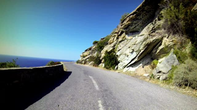 car onboard camera: the terrible roads of corsica - steep stock videos & royalty-free footage