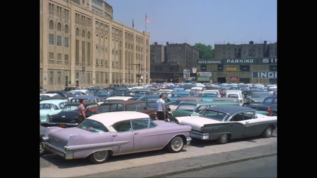 WS PAN Car park outside Yankee Stadium / New York City, New York State, United States