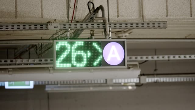 led car park signs - parking stock videos & royalty-free footage