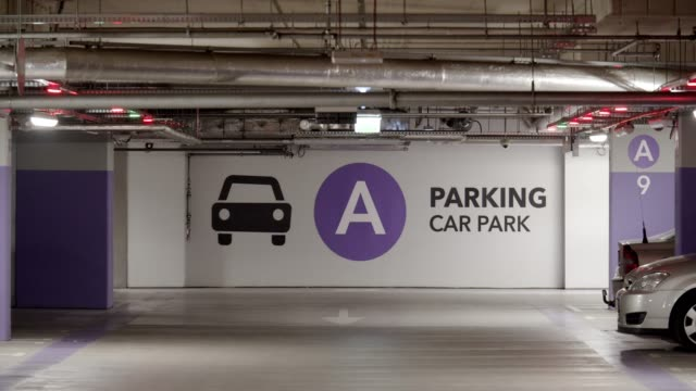 led car park signs - car rental stock videos and b-roll footage