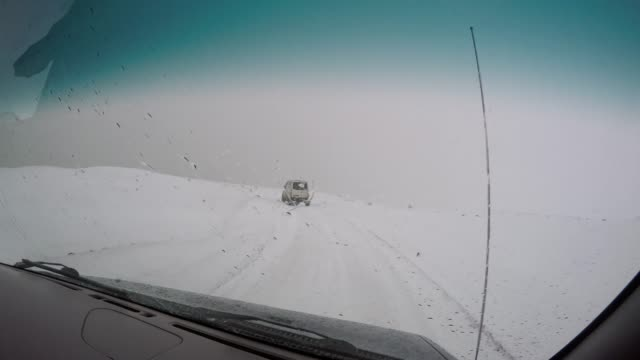 ms car point of view driving along remote snow covered landscape,iceland - bumpy stock videos & royalty-free footage