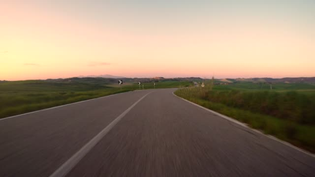 car point of view driving in the italian hills - segnaletica stradale video stock e b–roll