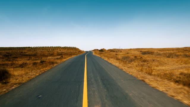 Car point de vue de la conduite sur route