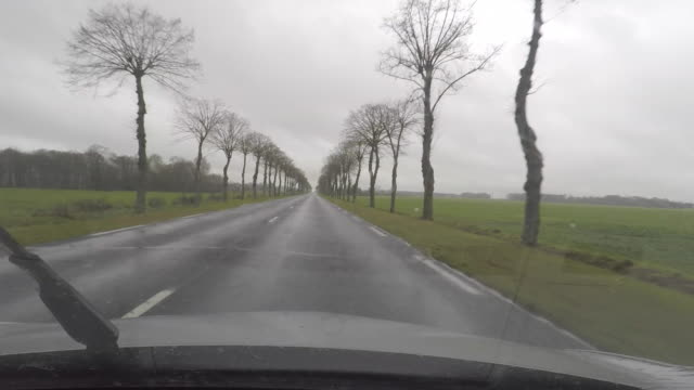 car point of view driving, road landscape seen from car - wohngebäude innenansicht stock-videos und b-roll-filmmaterial
