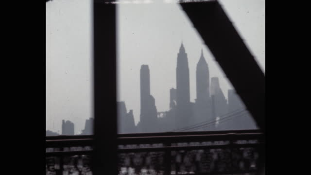 car point of view of skyline seen from manhattan bridge, new york city, ny, usa - 1941 stock videos & royalty-free footage