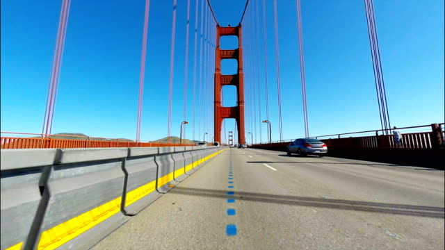 car point of view of the golden gate bridge in san francisco ca - san francisco california stock videos and b-roll footage