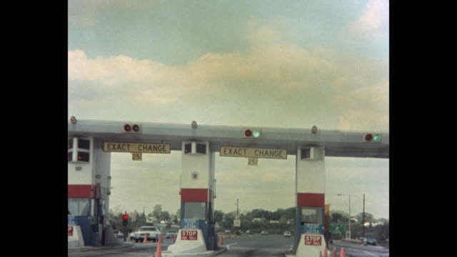 car point of view of toll booth, atlantic city, new jersey, usa - new jersey stock videos & royalty-free footage