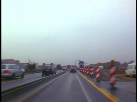 vidéos et rushes de car point of view time lapse driving on autobahn near frankfurt / germany - 1999