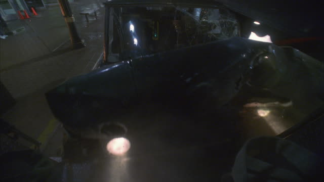 MS HA Car pulled by steel cable crashing into rear of truck