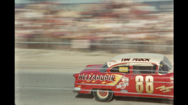 car race at daytona international speedway, daytona beach, florida, usa - 1954 stock videos & royalty-free footage