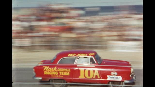 car race at daytona international speedway daytona beach florida usa - 1954 stock videos & royalty-free footage