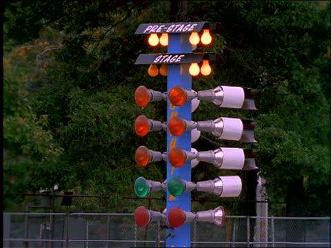 Car racing signal lights