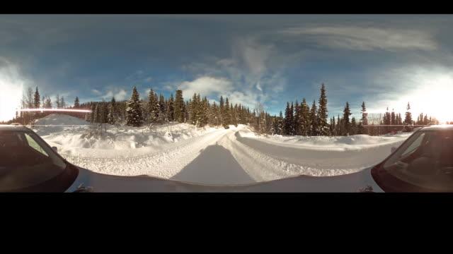 Car ride through snow forrest part 2