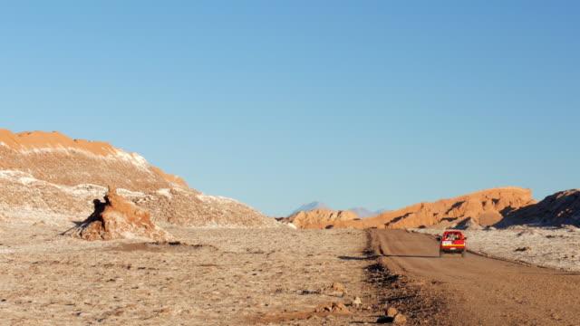 a car riding in the desert - antofagasta region stock videos and b-roll footage