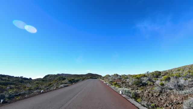 ws car pov road in natural setting, reunion island - french overseas territory stock videos & royalty-free footage