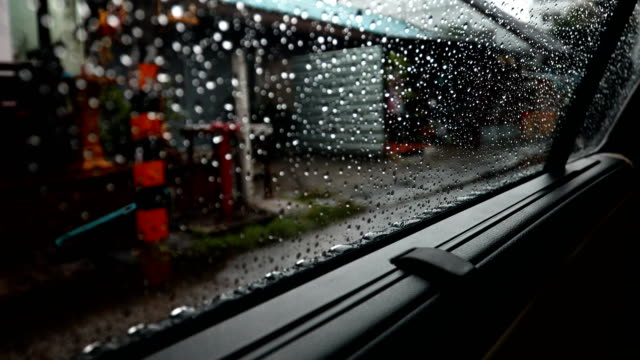 car scene in rainy day - saving up for a rainy day stock videos and b-roll footage