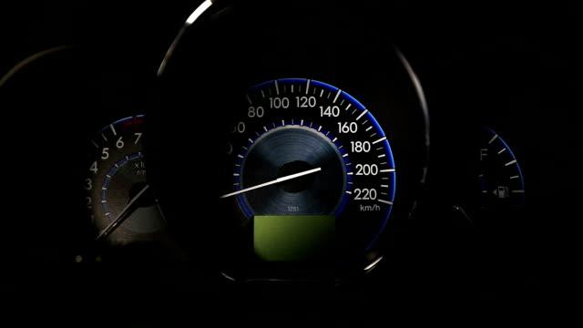 Car speedometer and fuel gauge