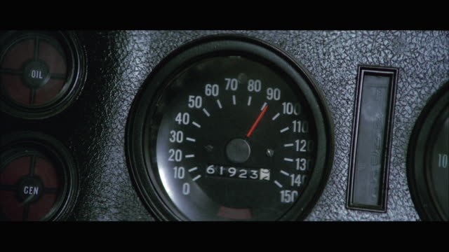 cu car speedometer moving up to 150 miles per hour - speedometer stock videos & royalty-free footage
