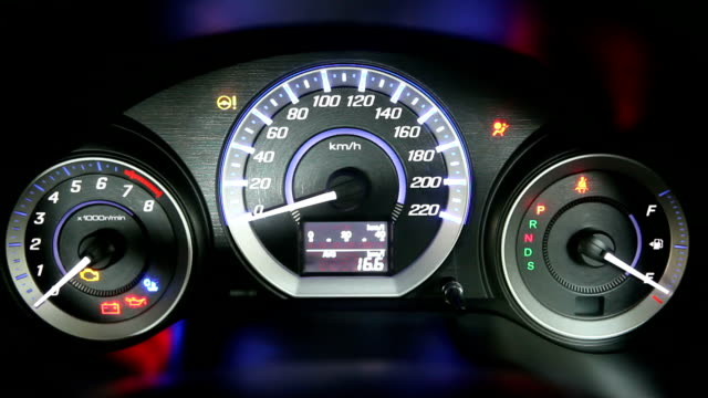 car speedometer - dashboard vehicle part stock videos and b-roll footage