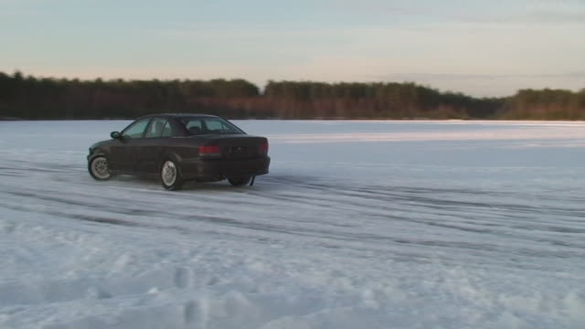 car spinning in snow - showing off stock videos & royalty-free footage