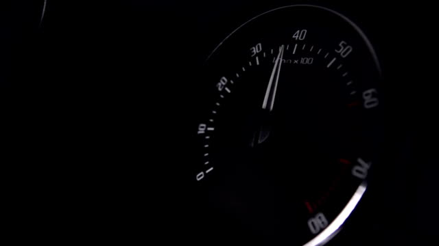 car tachometer close up - meter instrument of measurement stock videos & royalty-free footage
