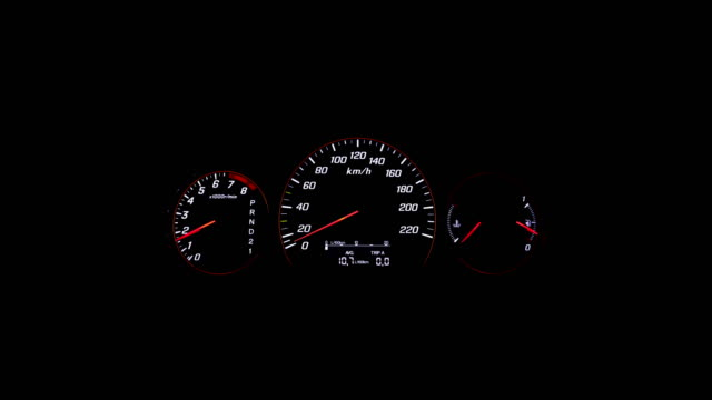 car tachometer indicator speed up - speedometer stock videos & royalty-free footage
