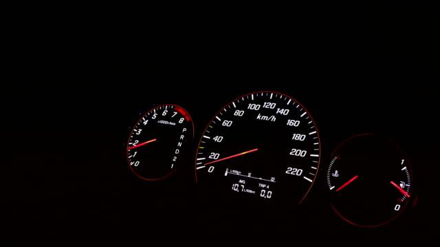 車のタコメーターインジケータスピードアップ - 計測器点の映像素材/bロール