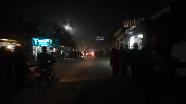car pov of the main bazaar market at night pushkar mela festival with vibrant folk music and dances horse and camel races religious bathing and a... - temple street market stock videos and b-roll footage