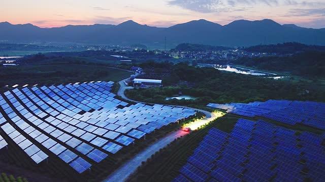car through solar power station - battery stock videos & royalty-free footage