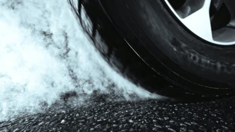slo mo car tire heating up and smoking - super slow motion stock videos & royalty-free footage