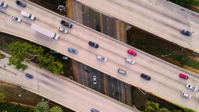 car traffic on the overpass bridges - traffic jam stock videos & royalty-free footage