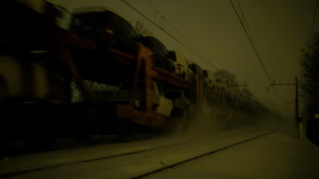car transport by train - peter snow bildbanksvideor och videomaterial från bakom kulisserna