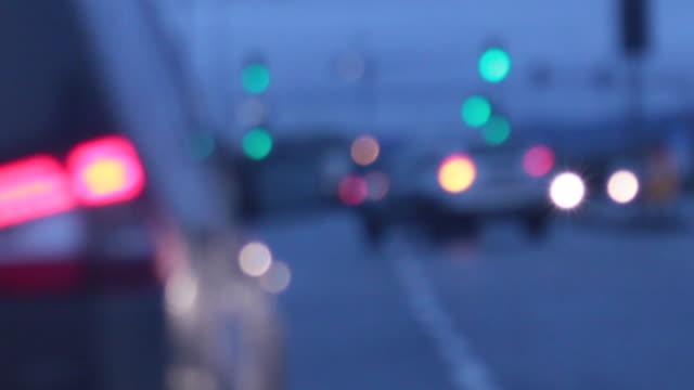 car trip - 乗り物の明かり点の映像素材/bロール