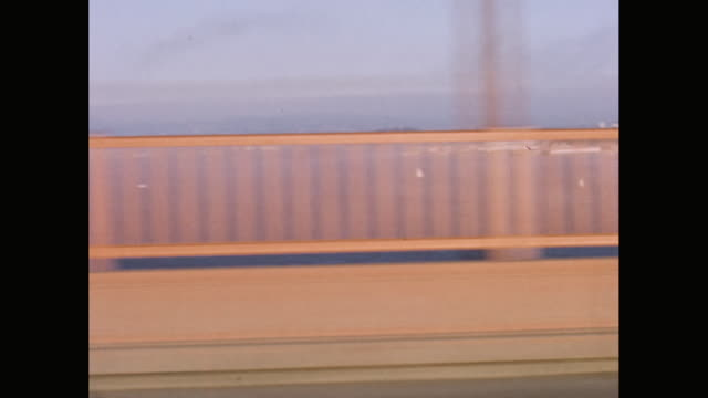 wa car pov view of san francisco bay from golden gate bridge / united states - railing stock videos & royalty-free footage