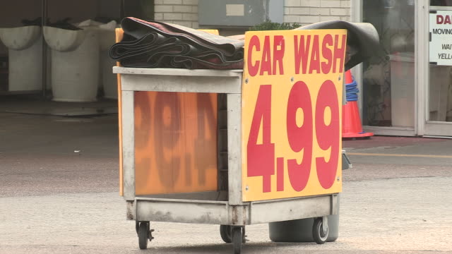 car wash business on street to attract custom - car wash stock videos & royalty-free footage