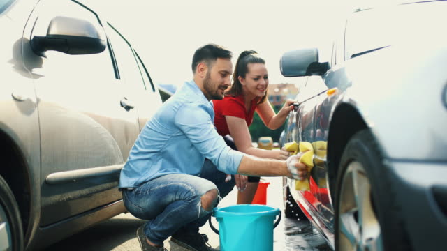 bilen tvätta self service. - biltvätt bildbanksvideor och videomaterial från bakom kulisserna
