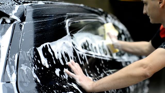 car wash service - biltvätt bildbanksvideor och videomaterial från bakom kulisserna