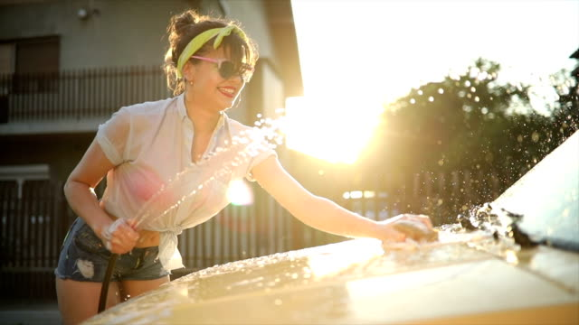 car washing in the sunset - curiosity stock videos & royalty-free footage