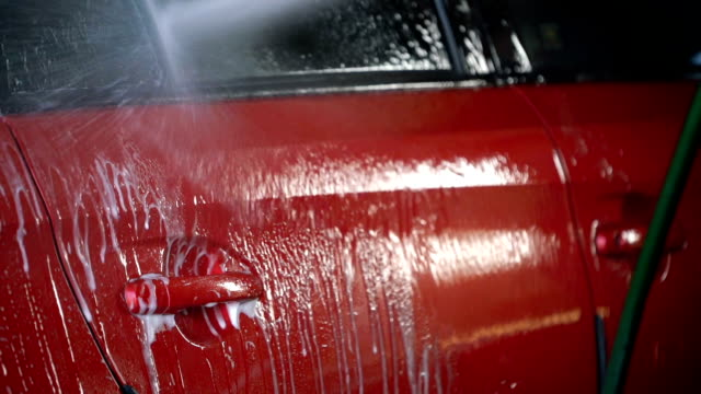 slo mo car washing. - environmental conservation stock videos & royalty-free footage