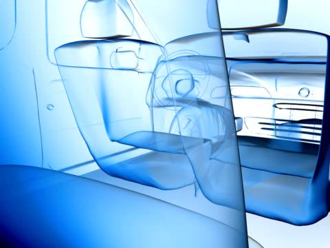 auto x-ray kamerabewegungen (pal25p - transparent stock-videos und b-roll-filmmaterial