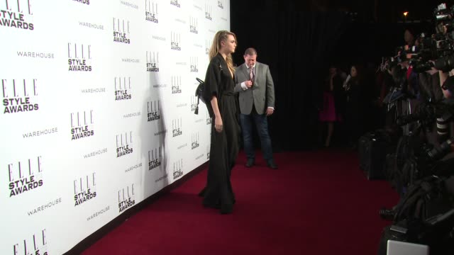 cara delevingne at elle style awards arrivals at one embankment on february 18 2014 in london england - embankment stock videos and b-roll footage