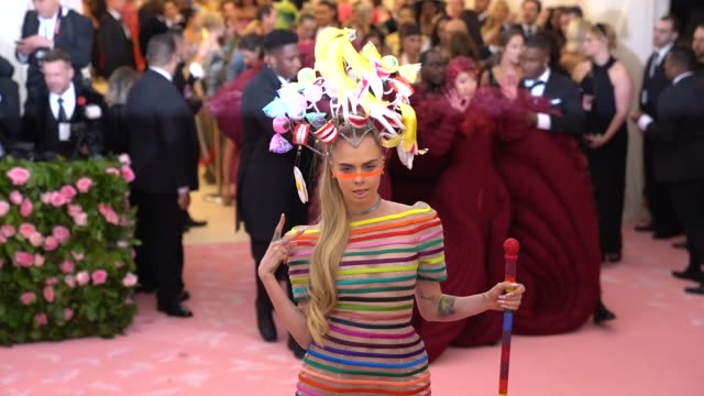 Cara Delevingne at The 2019 Met Gala Celebrating Camp Notes on Fashion Arrivals at Metropolitan Museum of Art on May 06 2019 in New York City