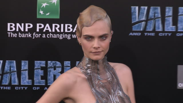 Cara Delevingne at the 'Valerian and the City of a Thousand Planets' World Premiere at TCL Chinese Theatre on July 17 2017 in Hollywood California