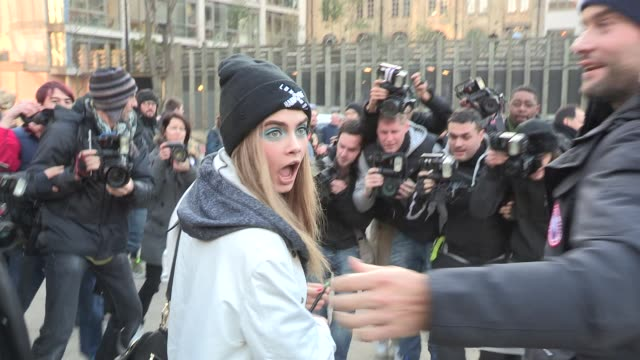 Cara Delevingne LFW Video Sightings on February 17 2013 in London England