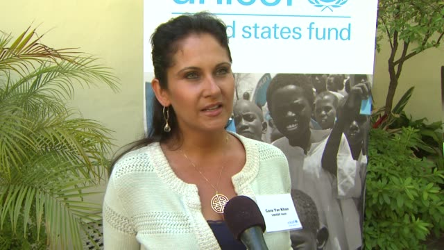 interview cara e yar khan disability focal point unicef haiti on the event at unicef's 2013 state of the world's children on 5/30/13 in los angeles ca - unicef stock videos & royalty-free footage