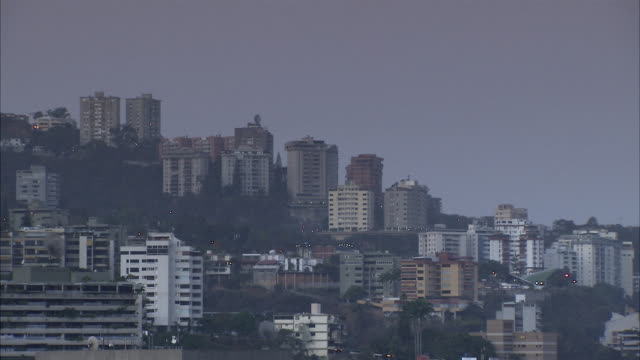 WS Caracas high rise buildings on hill / Metropolitan District of Caracas, Miranda, Venezuela