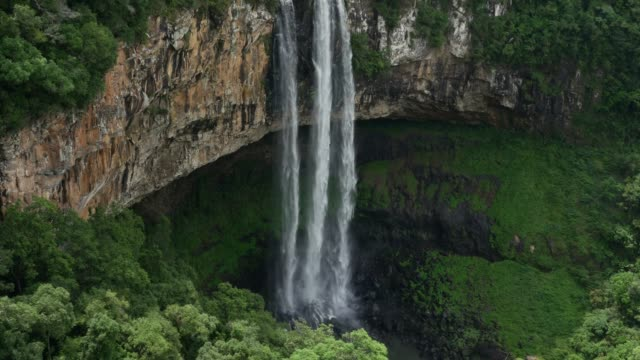 caracol falls in canela, rio grande do sul, brazil - natural landmark stock videos & royalty-free footage
