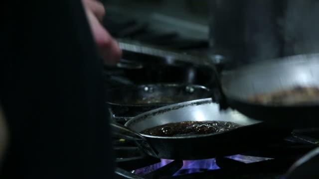 caramel preparation - frying pan stock videos & royalty-free footage