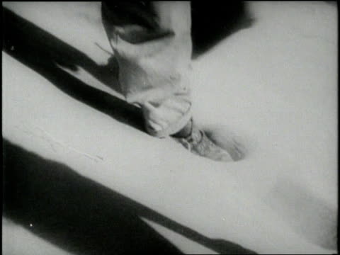 a caravan of camels cast shadows on the sand as they cross a desert - fußabdruck stock-videos und b-roll-filmmaterial