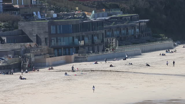 carbis bay beach and st ives as u.k. pickscornwallfor in person g7 summit in june, in st ives and carbis bay, cornwall, u.k., on friday and... - citrus fruit stock videos & royalty-free footage